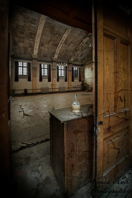 Chianti bottle in abandoned asylum