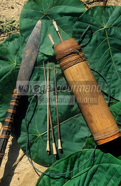 Asie/Malaisie/Bornéo/Sarawak: Chasse à la sarbacane chez les Dayak