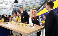 Nederland Amsterdam - 2019. De Nationale Carrierebeurs voor werkzoekenden in de Rai. De stand van de NS.  Foto Berlinda van Dam / Hollandse Hoogte