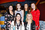 Evonne Rice from Ballyheigue, seated, celebrating her birthday with friends in Restaurant Uno on Saturday night.  <br /> Seated l-r Evonne Rice and Amanda Gentleman.<br /> Standing l-r, Rosanne Murphy, Christine Meehan, Mairead Fitzgerald and Emma Quirke.