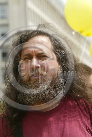 BRUSSELS - BELGIUM - 02 JUNE 2005 --Richard STALLMAN the person behind the GNU system, a free software and UNIX style operating system.-- PHOTO: ERIK LUNTANG / EUP-IMAGES..