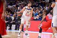 Real Madrid's Sergio Llull and CSKA Moscow Cory Higgins during Turkish Airlines Euroleague match between Real Madrid and CSKA Moscow at Wizink Center in Madrid, Spain. January 06, 2017. (ALTERPHOTOS/BorjaB.Hojas)