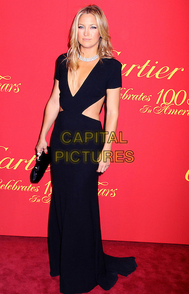 KATE HUDSON .Cartier 100th Anniversary In America Celebration held at Cartier Fifth Avenue Mansion, New York, NY, USA, .April 30, 2009..full length long maxi black diamond necklace  low cut cleavage cut out sides clutch bag .CAP/ADM/AC.©Alex Cole/AdMedia/Capital Pictures