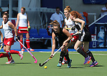Glasgow 2014 Commonwealth Games<br /> Wales v England<br /> Sophie Clayton in action for Wales.<br /> Glasgow National Hockey Centre<br /> <br /> 24.07.14<br /> ©Steve Pope-SPORTINGWALES