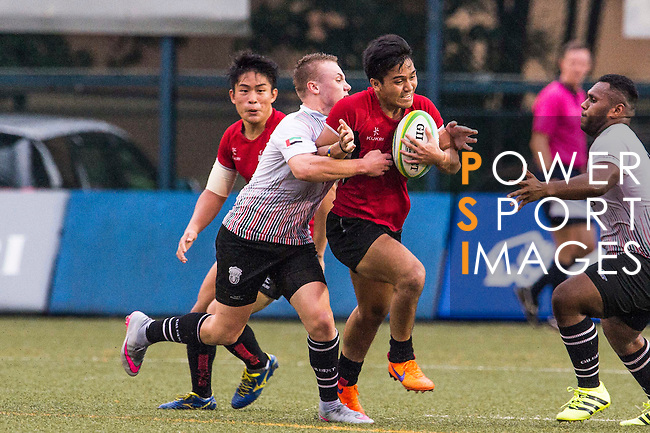 Ruzaini Bin Mohamad (c) of Singapore in action during the match between United Arab Emirates and Singapore of the Asia Rugby U20 Sevens Series 2016 on 12 August 2016 at the King's Park, in Hong Kong, China. Photo by Marcio Machado / Power Sport Images