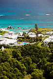 BERMUDA. Southampton Parish. View of homes and coast from the Gibb's Hill Lighthouse in Southampton.