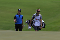 Brandon Stone (RSA) walks onto the 18th green during Saturday's Round 3 of the 117th U.S. Open Championship 2017 held at Erin Hills, Erin, Wisconsin, USA. 17th June 2017.<br /> Picture: Eoin Clarke | Golffile<br /> <br /> <br /> All photos usage must carry mandatory copyright credit (&copy; Golffile | Eoin Clarke)