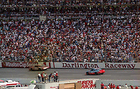 Race fans watch the action during the Southern 500 at Darlington Raceway in Darlington, SC in September 1988. (Photo by Brian Cleary/www.bcpix.com)