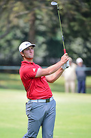 Jon Rahm (ESP) watches his approach shot on 2 during round 4 of the World Golf Championships, Mexico, Club De Golf Chapultepec, Mexico City, Mexico. 3/5/2017.<br /> Picture: Golffile | Ken Murray<br /> <br /> <br /> All photo usage must carry mandatory copyright credit (&copy; Golffile | Ken Murray)