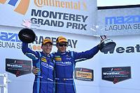 IMSA WeatherTech SportsCar Championship<br /> AMERICA'S TIRE 250<br /> Mazda Raceway Laguna Seca<br /> Monterey, CA USA<br /> Saturday 24 September 2017<br /> 90, Multimatic Riley, P, Marc Goossens, Renger Van Der Zande<br /> World Copyright: Richard Dole<br /> LAT Images<br /> ref: Digital Image RD_LS_17_323