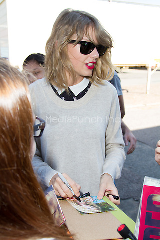 Taylor Swift arriving at Deutscher Radiopreis 2014 (german radio award) held at Schuppen 52, Hamburg, Germany, 04.09.2014.<br />