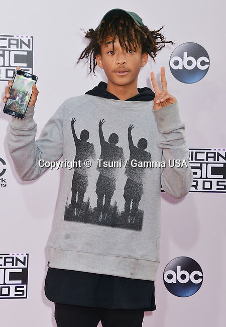 Jaden Smith at the 2014 American Music Awards arrival at the Nokia Theatre on Nov. 23, 2014, in Los Angeles.