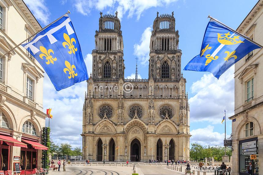 France, Loiret (45), Orléans, cathédrale Sainte-Croix // France, Loiret, Orleans, Sainte Croix cathedral