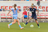 Bridgeview, IL, USA - Sunday, May 29, 2016: Sky Blue FC forward Tasha Kai (32) during a regular season National Women's Soccer League match between the Chicago Red Stars and Sky Blue FC at Toyota Park. The game ended in a 1-1 tie.