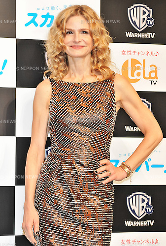 "Kyra Sedgwick, Oct 02, 2012 : Kyra Sedgwick, October 2, 2012, Tokyo, Japan : Actress Kyra Sedgwick attends a press conference for TV drama ""The Closer:Seven season "" in Tokyo, Japan, on October 2, 2012."