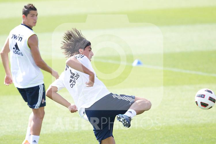 MADRID (11/08/2010).- Real Madrid training session at Valdebebas. Sami Khedira and Cristiano Ronaldo...Photo: Cesar Cebolla / ALFAQUI