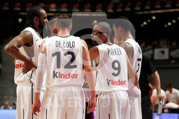 (L to R) France´s Ronny Turiaf, De Colo, Parker and Gelabale during friendly match Spain vs France.July 10,2012.(ALTERPHOTOS/ARNEDO)