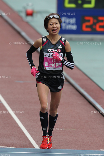 Kayoko Fukushi, JANUARY 29, 2012 - Marathon : 2012 Osaka International Ladies Marathon, Start & Goal Nagai Stadium in Osaka, Japan. (Photo by Akihiro Sugimoto/AFLO SPORT) [1080]