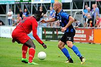 ASSEN - Voetbal, ACV - Magreb 90, derde divisie zaterdag, seizoen 2017-2018, 25-08-2017 ACV speler Erik Eleveld in duel met Renne Donkor