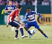 CARSON, CA – June 18, 2011: FC Dallas forward Marvin Chavez (18)  during the match between Chivas USA and FC Dallas at the Home Depot Center in Carson, California. Final score Chivas USA 1, FC Dallas 2.