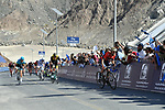 Sonny Colbrelli (ITA) Bahrain-Merida powers up the Hatta Dam climb to win Stage 4 The Municipality Stage of the Dubai Tour 2018 the Dubai Tour&rsquo;s 5th edition, running 172km from Skydive Dubai to Hatta Dam, Dubai, United Arab Emirates. 9th February 2018.<br /> Picture: LaPresse/Massimo Paolone | Cyclefile<br /> <br /> <br /> All photos usage must carry mandatory copyright credit (&copy; Cyclefile | LaPresse/Massimo Paolone)