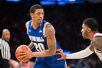NEW YORK, NY - Sunday December 21, 2015: Desi Rodriguez (#20) of Seton Hall scored 24 points against St. John's as the two teams squared off in regular season play at Madison Square Garden.
