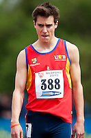 03 MAY 2010 - BEDFORD, GBR - Ed Aston (University of Birmingham) - Mens 400m Final - BUCS Outdoor Athletics Championships .(PHOTO (C) NIGEL FARROW)