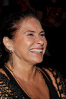 SAO PAULO, SP, 24 DE JANEIRO 2012 - SPFW  - MOVIMENTACAO - A cantora Fafa de Belem,  durante a São Paulo Fashion Week 2012, no predio da Bienal, no Parque do Ibirapuera, na zona sul de Sao Paulo, nesta terca-feira, 24. (FOTO: MILENE CARDOSO - NEWS FREE).