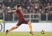 Calcio, Serie A: Juventus vs Roma. Torino, Juventus Stadium,17 dicembre 2016. <br /> Roma&rsquo;s Diego Perotti in action during the Italian Serie A football match between Juventus and Roma at Turin's Juventus Stadium, 17 December 2016.<br /> UPDATE IMAGES PRESS/Isabella Bonotto