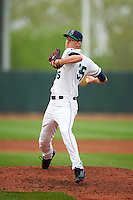 Cedar Rapids Kernels relief pitcher Michael Cederoth (35) delivers a pitch during the first game of a doubleheader against the Kane County Cougars on May 10, 2016 at Perfect Game Field in Cedar Rapids, Iowa.  Kane County defeated Cedar Rapids 2-0.  (Mike Janes/Four Seam Images)