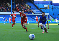 Barrie McKay of Nottingham Forest wins the ball during the Sky Bet Championship match between Sheffield Wednesday and Nottingham Forest at Hillsborough, Sheffield, England on 9 September 2017. Photo by Leila Coker / PRiME Media Images.