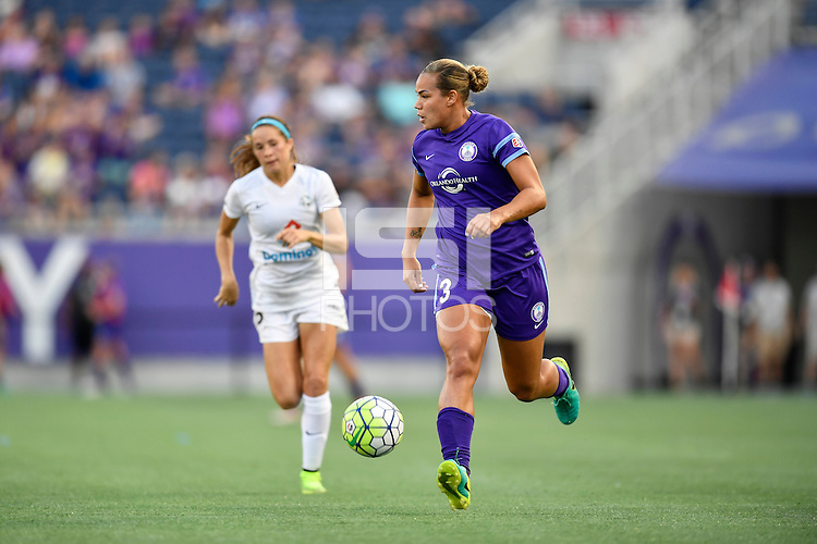 Orlando, FL - Saturday September 24, 2016: Toni Pressley during a regular season National Women's Soccer League (NWSL) match between the Orlando Pride and FC Kansas City at Camping World Stadium. FCKC won 2-1.