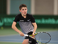 Rotterdam, The Netherlands, March 20, 2016,  TV Victoria, NOJK 14/18 years, Jens Hoogendam (NED)<br /> Photo: Tennisimages/Henk Koster
