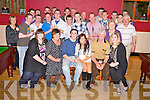 James Breen, Coolmagort, Beaufort, pictured with his family and friends as he celebrated his 21st birthday in The Inn Between bar, Beaufort on Saturday night...
