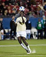 Wake Forest defender Ike Opara (23) heads the ball.  North Carolina Tar Heels defeated Wake Forest Demon Deacons 1-0 in the semifinal match of the NCAA Men's College Cup at Pizza Hut Park in Frisco, TX on December 12, 2008.  Photo by Wendy Larsen/isiphotos.com