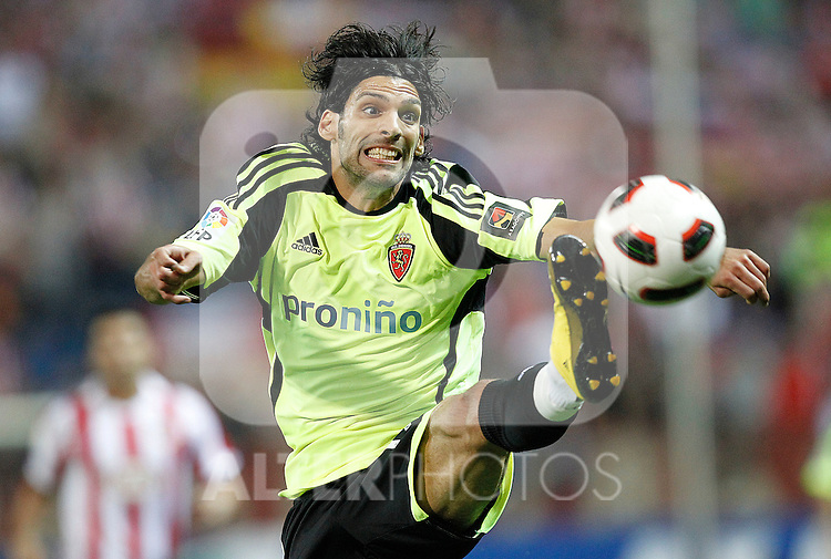 Zaragoza's Angel Lafita during la Liga match, september 26, 2010...Photo: Cesar Cebolla / ALFAQUI