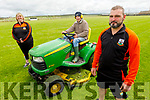 Putting the finishing touches to the grounds of Ballyheigue GAA Club as they prepare to reopen.<br /> Front right: Tony Goggin. Back l to r: Cara and Thomas Flahive.