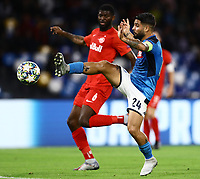 5th November 2019; Stadio San Paolo, Naples, Campania, Italy; UEFA Champions League Group Stage Football, Napoli versus Red Bull Salzburg; Lorenzo Insigne of Napoli challenges Jerome Onguene of Salzburg  - Editorial Use