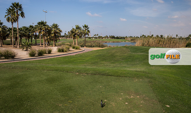 7th tee, The Track at The Meydan Golf Club, Dubai, United Arab Emirates.  31/01/2016. Picture: Golffile | David Lloyd<br /> <br /> All photos usage must carry mandatory copyright credit (&copy; Golffile | David Lloyd)