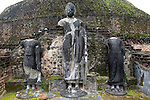 Pabula Vihara temple, UNESCO World Heritage Site, the ancient city of Polonnaruwa, Sri Lanka, Asia standing Buddha statues