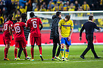 Solna 2013-11-19 Fotboll VM-kval Playoff , Sverige - Portugal :  <br /> Sverige Kim K&auml;llstr&ouml;m deppar efter matchen<br /> (Photo: Kenta J&ouml;nsson) Keywords:  Sweden Portugal depp besviken besvikelse sorg ledsen deppig nedst&auml;md uppgiven sad disappointment disappointed dejected