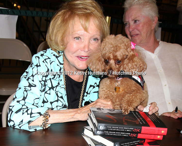 LOS ANGELES - AUG 18:  Lee Bell, with her service dog Joy Bell at the book signing for William Bell Biography at Barnes & Noble on August 18, 2012 in Ventura, CA
