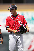 Richmond Flying Squirrels Hector Correa #22 during a game against the Erie Seawolves at Jerry Uht Park on July 27, 2011 in Erie, Pennsylvania.  Richmond defeated Erie 4-2.  (Mike Janes/Four Seam Images)