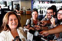 SAO PAULO,SP,SEXTA FEIRA,03 DE FEVEREIRO DE 2012,MINISTRA MIRIAN BELCHIOR DEIXA SIRO LIBANES EM SP,A Ministra do Planejamento, Miriam Belchior, internada no Hospital Sírio-Libanês, em São Paulo, desde esta madrugada quinta(02), após quadro de crise hipertensiva, submeteu-se a vários exames de rotina, que já estavam previstos para o final de fevereiro,A paciente encontrava-se estável do ponto de vista clínico e passou a noite no Hospital para a realização de polissonografia, o último exame agendado.A ministra deixou o hospital nesta manha de sexta(03),FOTO:WARLEY LEITE - NEWS FREE