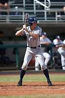 Ethan Schmidt (16) of the Xavier Musketeers at bat against the Penn State Nittany Lions at Coleman Field at the USA Baseball National Training Center on February 25, 2017 in Cary, North Carolina. The Musketeers defeated the Nittany Lions 10-4 in game one of a double header. (Brian Westerholt/Four Seam Images)