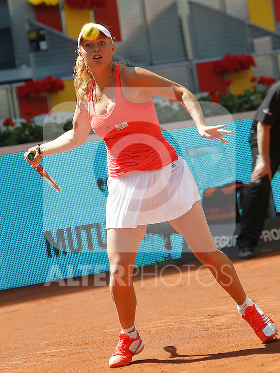 Denmark's Caroline Wozniacki during  Mutua Madrid Tennis Open on May 5, 2011...Photo: Cesar Cebolla / ALFAQUI