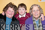 SOCIAL: Eileen OBrien, Linus Burke and Mary OMalley at the Milltown welcoming evening in Milltown Community Centre last Friday night..