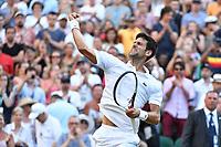Novak Djokovic (Ser)<br /> Wimbledon 07-07-2018 Roland Garros <br /> Tennis Grande Slam 2018 <br /> Foto Panoramic / Insidefoto <br /> ITALY ONLY