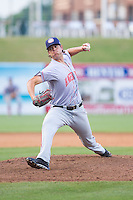 Hagerstown Suns relief pitcher Jake Walsh (35) in action against the Greensboro Grasshoppers at NewBridge Bank Park on May 20, 2014 in Greensboro, North Carolina.  The Grasshoppers defeated the Suns 5-4. (Brian Westerholt/Four Seam Images)