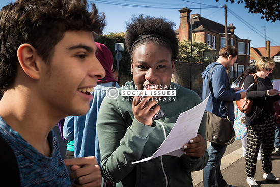 GCSE exam results Gladesmore Community School, Tottenham, North London 2014 UK